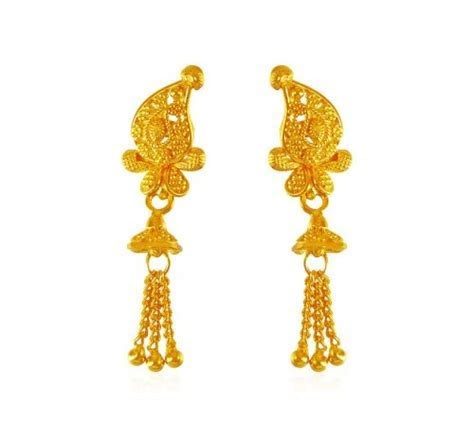 22Kt Gold Earring   AjEr63712   22K Gold earrings are