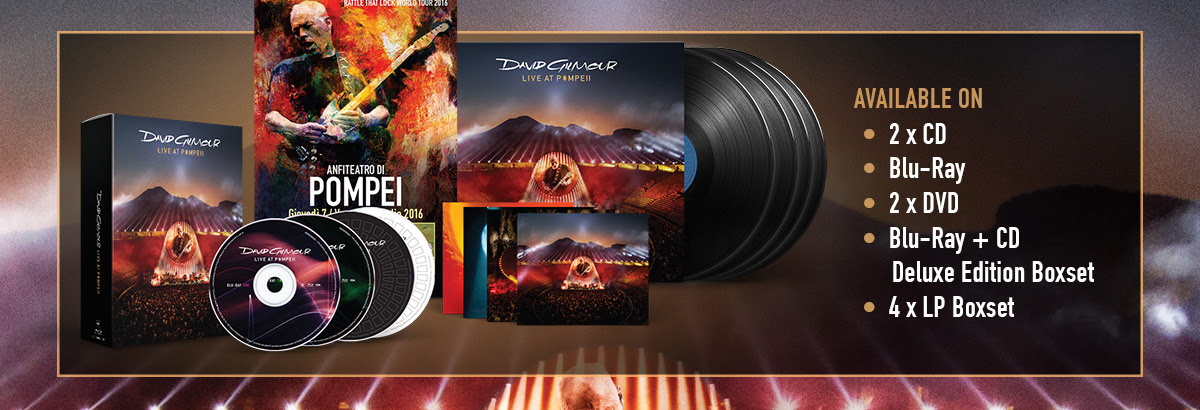Available On:  2 x CD, Blu-Ray, 2 x DVD, Blu-Ray + CD Deluxe Edition Boxset, 4 x LP Boxset