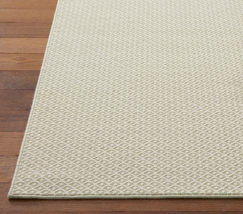 Nursery rug - khaki/white