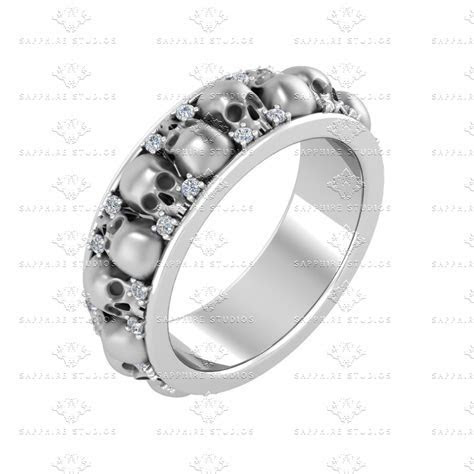 0.50 ct Sterling Silver White Diamond Wedding Band