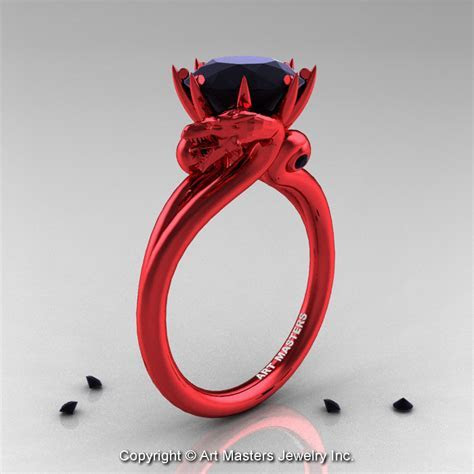 Red And Black Wedding Rings