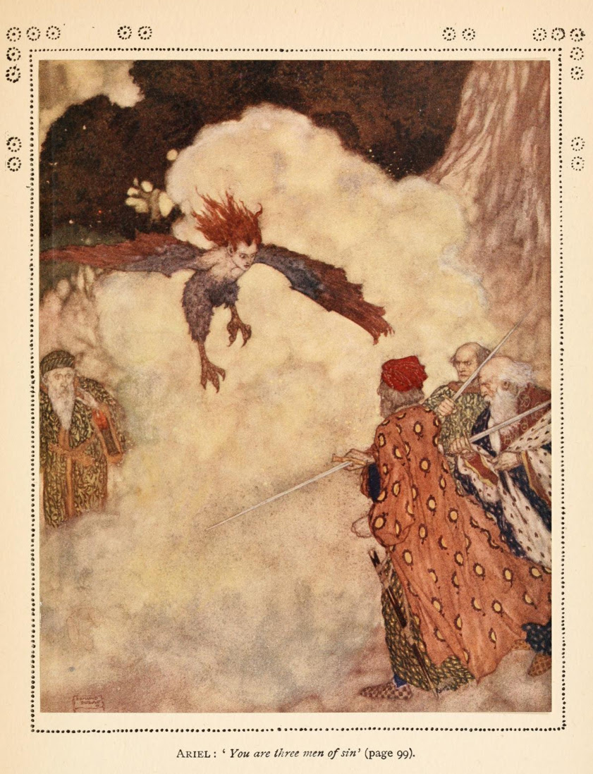 Edmund Dulac - Illustration from Shakespeare's Comedy Of The Tempest