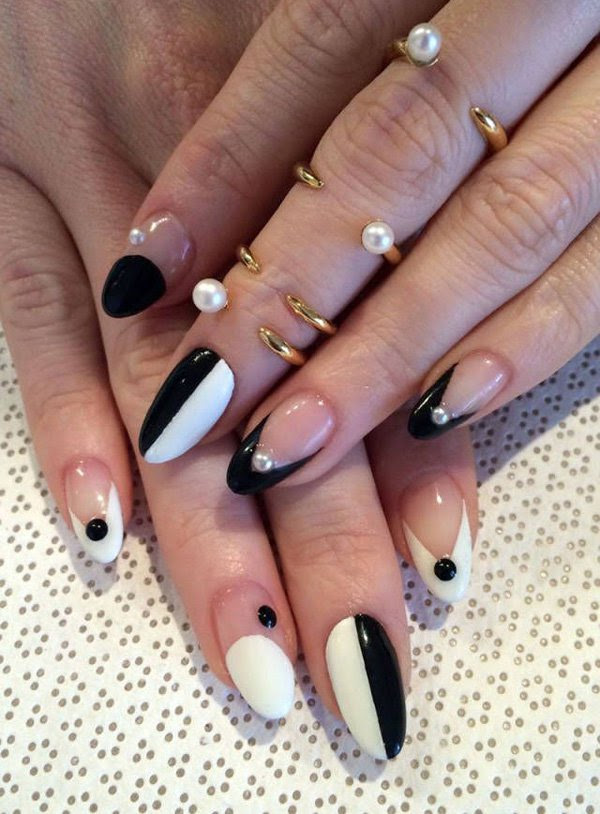 55 Creative Black and White Nail Art Examples | Incredible ...
