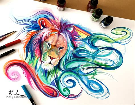 colored pencil drawing art  katy lipscomb inspiration