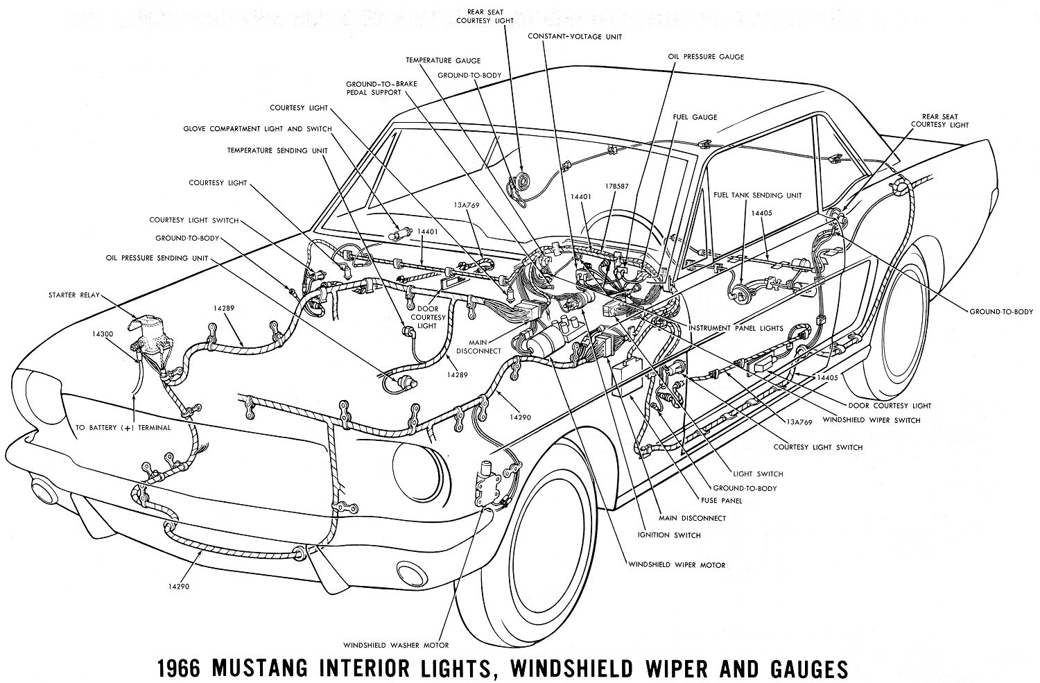 B380 1966 Mustang Windshield Wiper Wiring Diagram Wiring Library