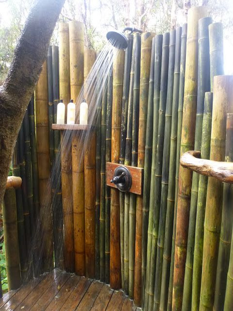 Outdoor shower bamboo - Foot Washing And Other Features ...