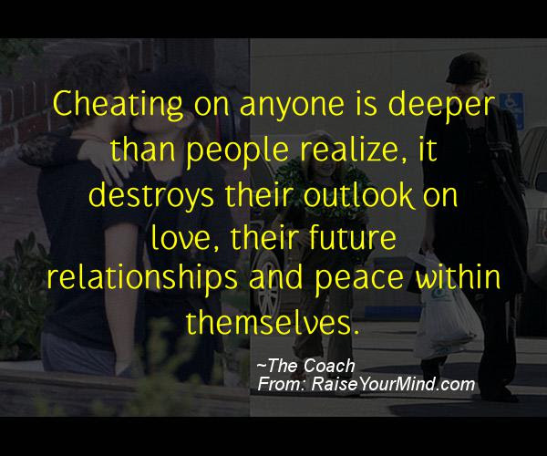 Cheating On Anyone Is Deeper Than People Realize It Destroys Their