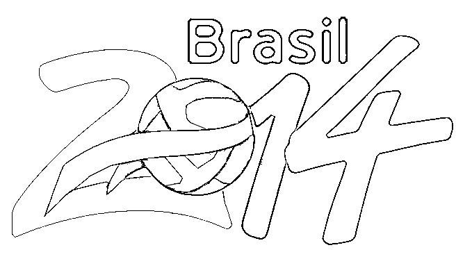 Coloriage Coupe Du Monde De Football 2014 Brasil 2014 5