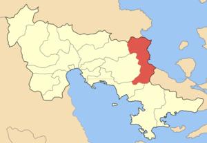 Locator map of Epidavrou municipality (Δήμος Ε...