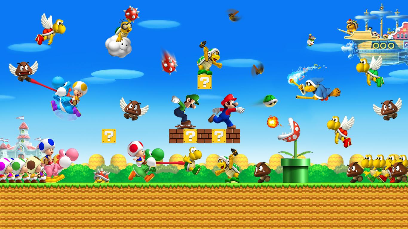 Super Mario Bros Wallpaper   Wallpapers Photos
