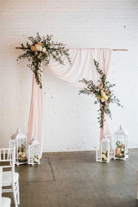 Beautiful draped wedding arch   Hottest Wedding Ideas