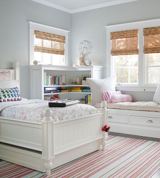interior decorating girls bedroom white trundle bed