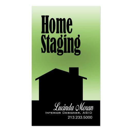 Home Staging Interior Designer Design Consultant Business Cards