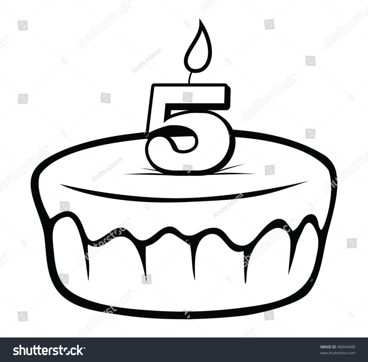 Birthday Cake Outline Images Stock Photos  Vectors Shutterstock