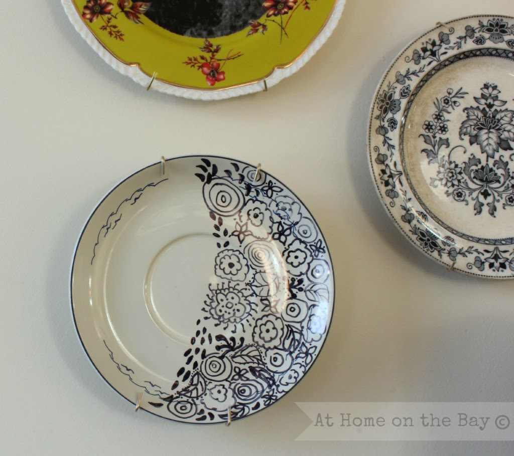 doodle plate: At Home on the Bay