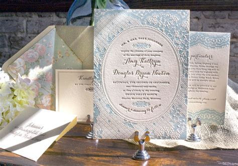Amy   Doug's Western Romance Lace Inspired Wedding Invitations