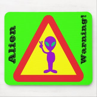 Alien Warning mousepad