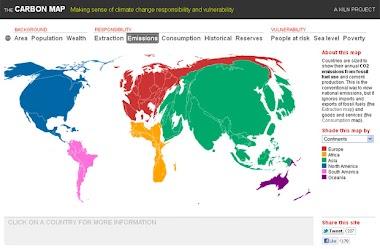 Mapa da emissão de carbono
