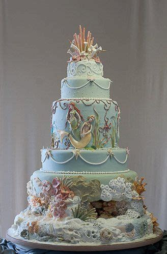 Elegant Underwater Mermaid Tiered Cake   Party   Under the