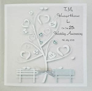 Stunning Personalised On Our 25TH SILVER Wedding