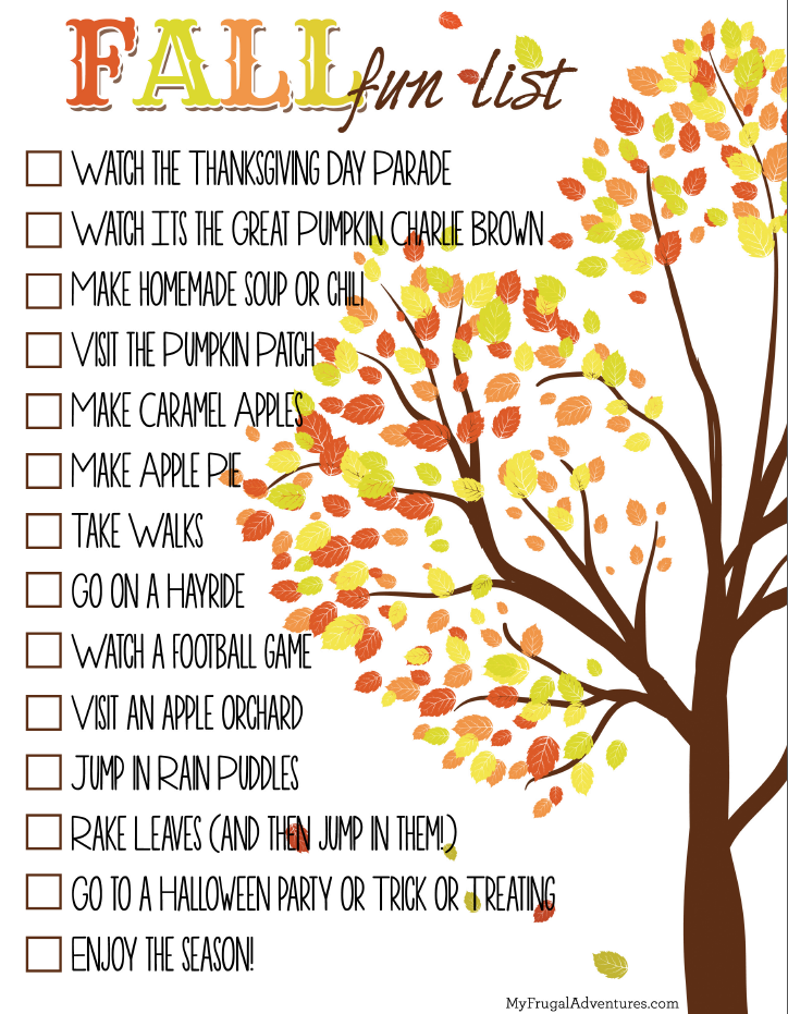 Fall Fun List Pictures Photos And Images For Facebook Tumblr