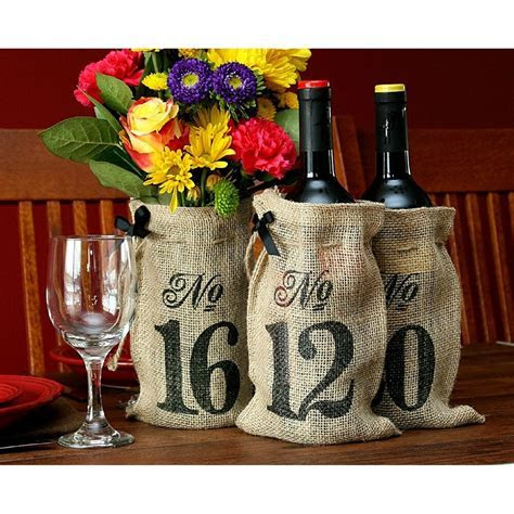 NEW Table Numbers 11 20 Burlap Hessian Wedding Wine Bottle