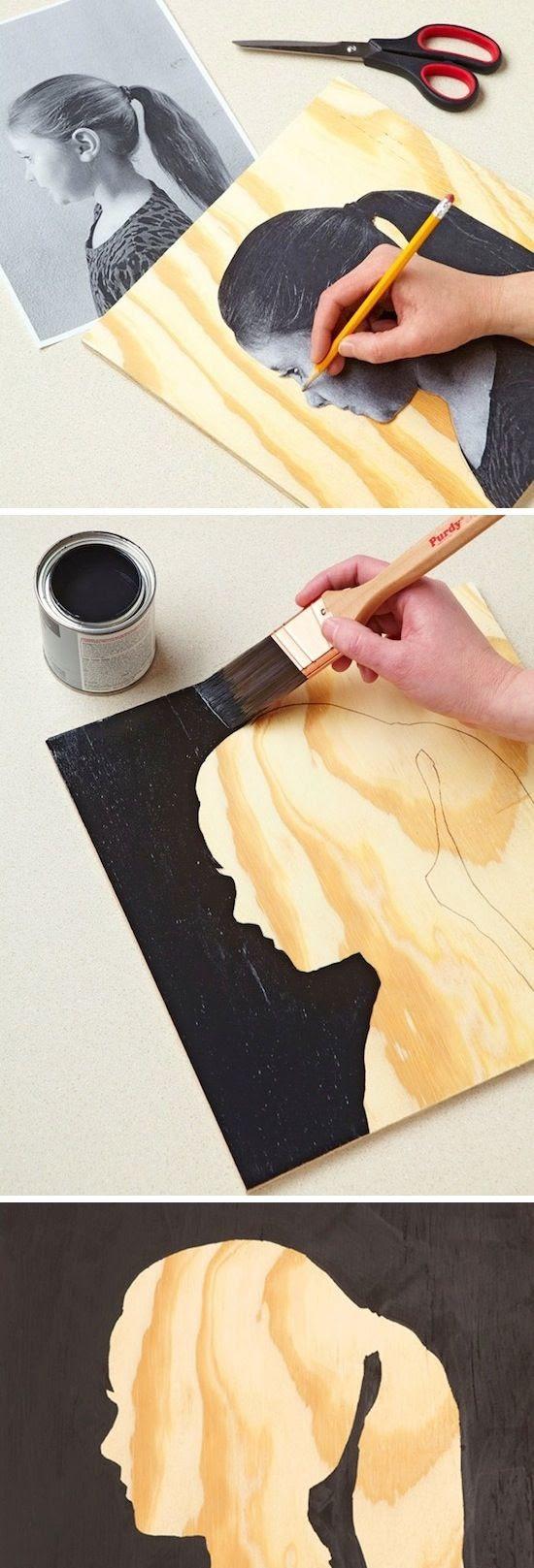 Easy Silhouette Wall Art.