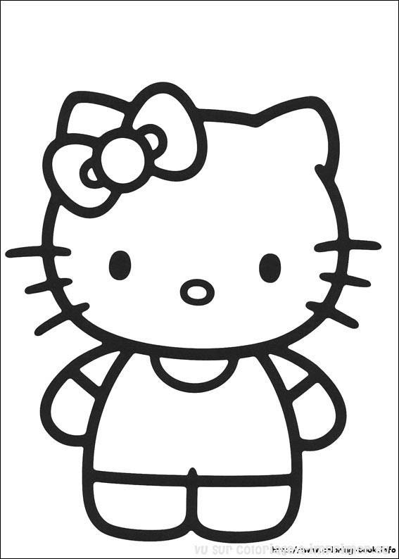 Coloriage à Imprimer Coloriage Hello Kitty 019