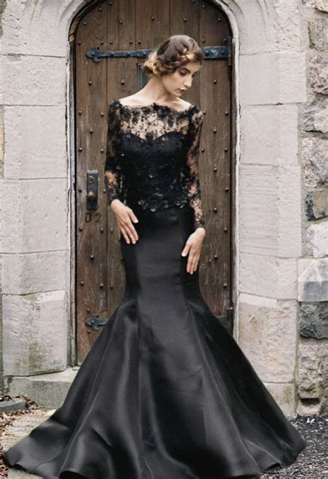 25 Glamorous Black Wedding Dresses ? Luxury Pictures