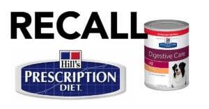 BREAKING: 25 Varieties of Dog Food Recalled for Elavated Vitamin D – Hills Prescription Diet & Science Diet Affected