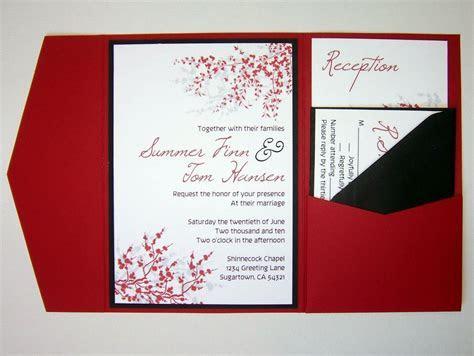 Wedding Invitation, DIY, Pocketfold, Cherry Blossom