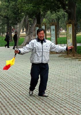 Swordplay in Temple of Heaven Park