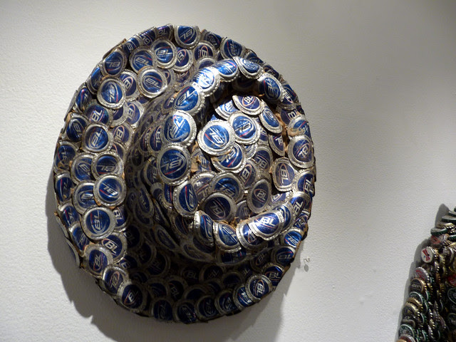 P1110903-2012-09-14-PURE-FOLK-at-Barbara-Archer-Gallery-Mr-Imagination--Gregory-Warmack-RIP-bottle-cap-hat