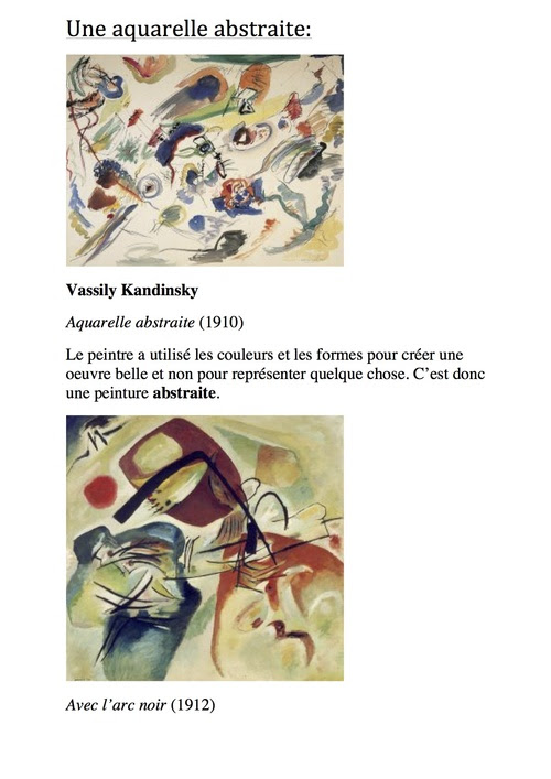 musée de la classe: Kandinsky