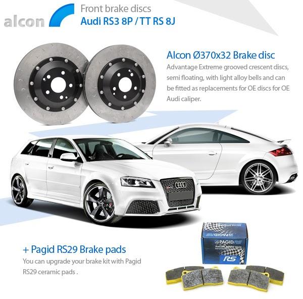 alcon brakes new alcon brake discs for audi rs3 8p tt. Black Bedroom Furniture Sets. Home Design Ideas