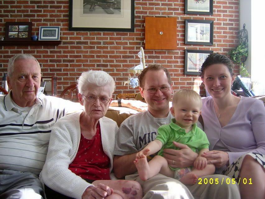 Grandpa, Grandma, M, G, and P
