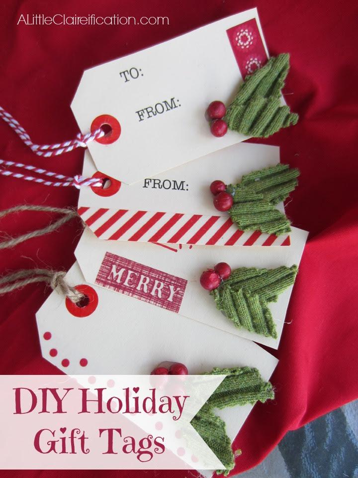 DIY gift tag