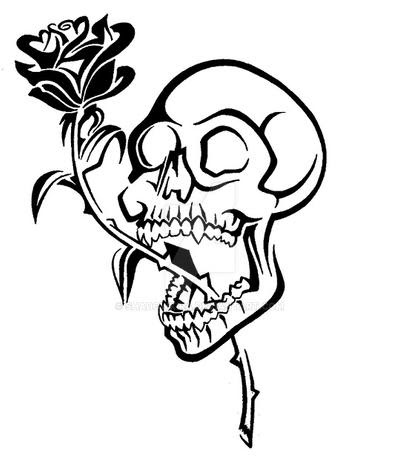 Tribal Rose And Skull Free Images