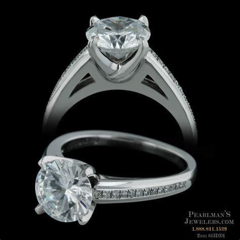 Michael Bondanza's Platinum pave Chelsea engagement ring w..