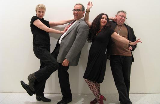 Flarf poets Sharon Mesmer, K. Silem Mohammad, Nada Gordon, and Gary Sullivan