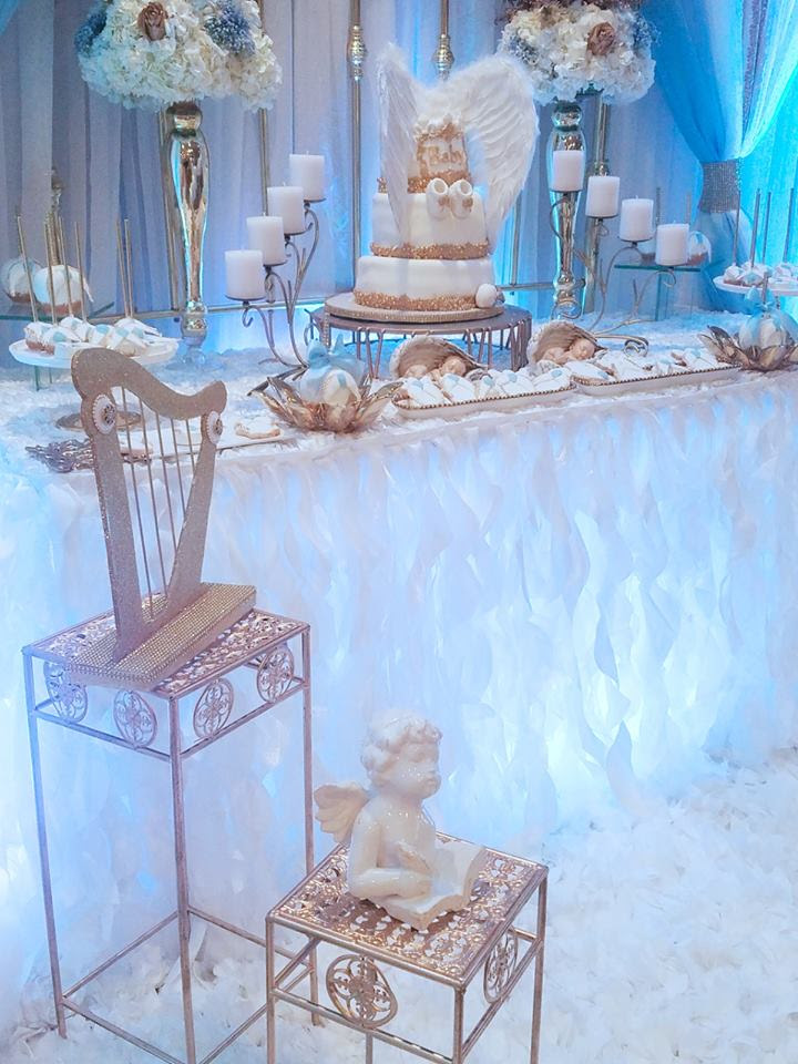 Baby Boy Angel Shower - Baby Shower Ideas - Themes - Games