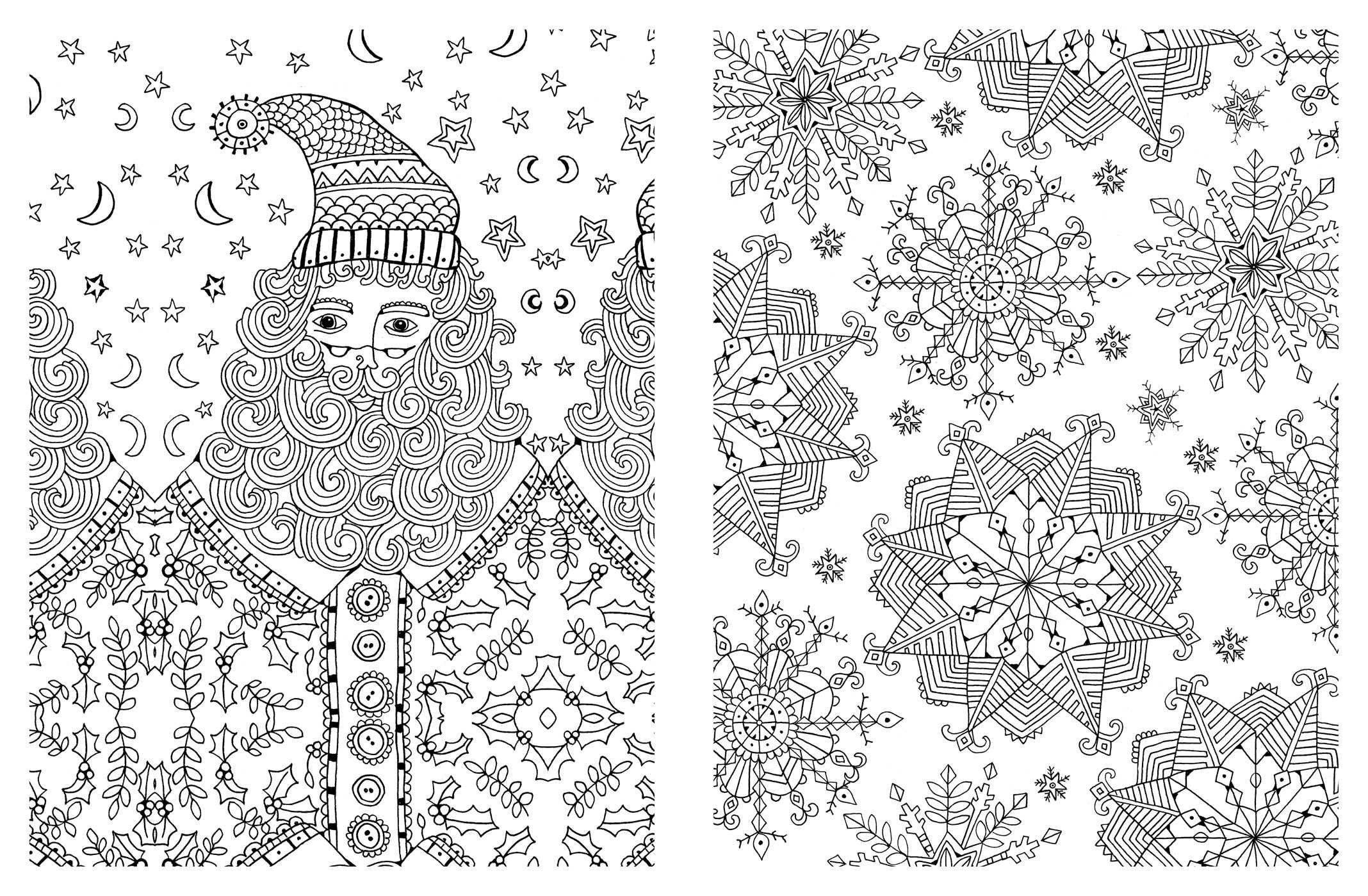 Christmas Adult Coloring Pages - Coloring Home