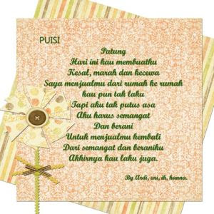Kumpulan Lagu Puisi Cinta dan Lainnya 8