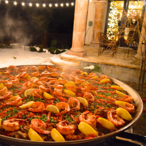 Christmas Spanish Style, A Paella Party in Lake Arrowhead, California, www.AfterOrangeCounty.com