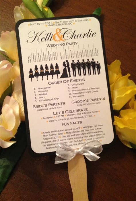 wedding fan programs  lovely