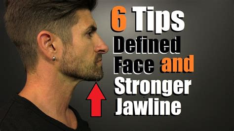 tips    defined face stronger jawline
