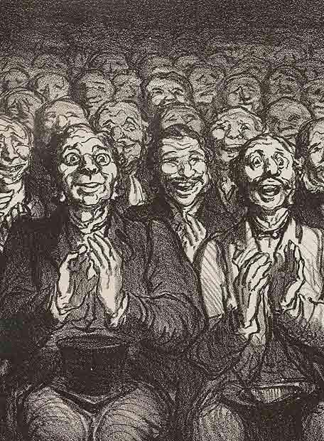 Aplausos - Daumier