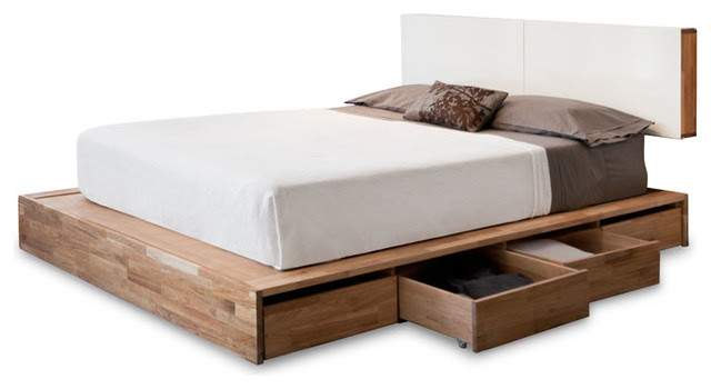 LAX Series Storage Platform Bed with Headboard - modern - beds ...