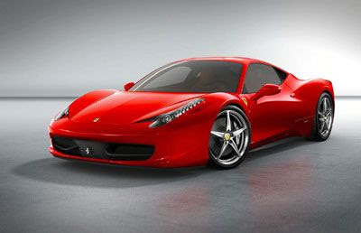 The Ferrari 458 Italia that will be the vehicle mode for a new Autobot character in Transformers 3.