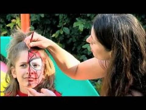 Doğum Günü Partileri Için Yüz Boyama Yüz Boyama Glitter Ekleme